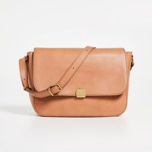 NEW Madewell Abroad Leather Shoulder Bag  TAN